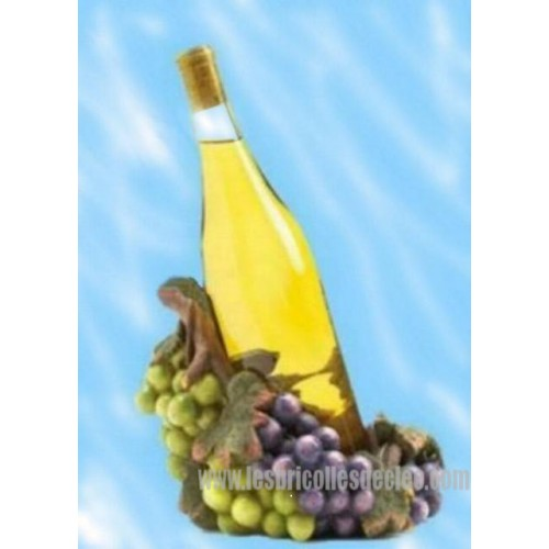 Decorative Wine Bottle Holders Custom Decorative Resin Grape Wine Bottle Holder  Les Bricolles De Cleo Inspiration Design