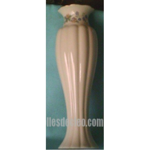 White Ceramic Bud Vase Lenox Flower Gold Rim Les Bricolles De Cleo