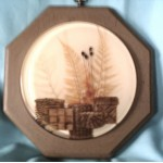 Wood Frame Flowers Resin Maple Color Upcycle