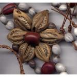 Belt Ladies Women Shell Nuts Flower Burlap