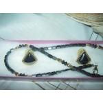 Necklace Earing Set Hematite Haematite Vintage