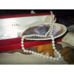Genuine Cultured Pearl Necklace 17 inches 5mm