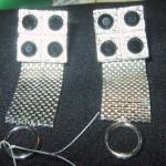 Vintage Wrap Around Cufflinks Silver Black Stones