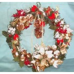 Christmas Wreath Handcrafted Holidaysn 12 inches