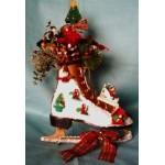 Ice Skate Door Greeter Decorative Christmas