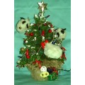 Handcrafted Lighted Mini Christmas Tree Decor
