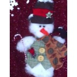 Christmas Stocking Handcrafted 3D Snowman