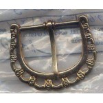Belt Buckle Gold Brass Medieval Costumes C-55308