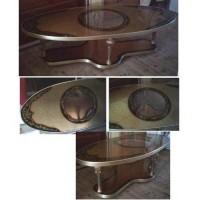 Art Deco Art Nouveau Living Room Table Glass Top