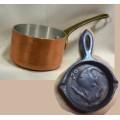 Poêle en fonte Casserole cuivre miniatures