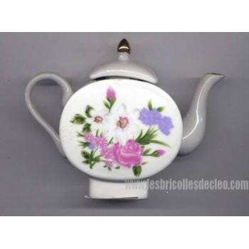 Porcelain Tea Pot Miniature China Collectible Gold