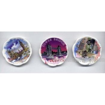 Miniature Plates Bone China England Lambert