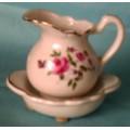 Vintage Miniature Pitcher Bowl Candle Collectibles