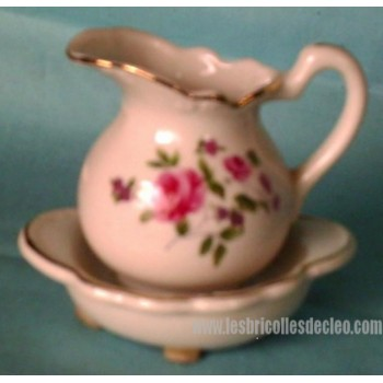 Vintage Miniature Pitcher Bowl Candle Collectibles
