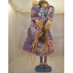 Handmade doll wood and fabric wooden stand