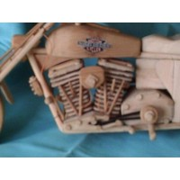 Reproduction Motocyclette Bois Fait Main Naturel