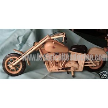 Motorcycle Collectibles Wood Handmade Black Tire