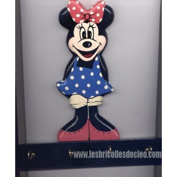 Key Holder Minnie Mouse Wall Plaque 4 Hook
