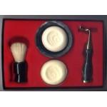 Men's Shaving Kit Gift Set Razor Badger Brush Le Case
