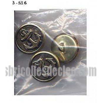 33 Buttons Metal Shank Anchor Copper