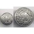41 Buttons Metal Silver Shank J.R. Gaunt
