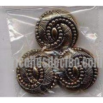 20 Buttons Plastic Gold Knot Shank Sewing