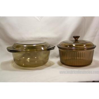 Arcopal N Marinex round dish amber glass Lid