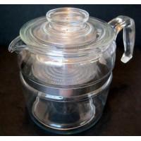 Pyrex Coffee Pot Glass Flameware 6 Cup 7756-B