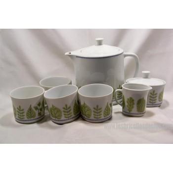 Upsala Ekeby Karlskrona Sylvia Tea Set