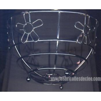 Bowl Filigree Stainless Steel Flower Basket