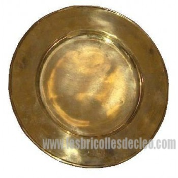 Vintage Brass Charger Chop Under-plates Plates 5
