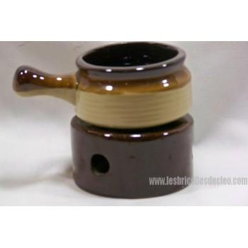 Chauffe beurre ou sauce en céramique brun