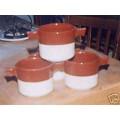 Pots Céramique Gratin Fèves au Lard Individuels