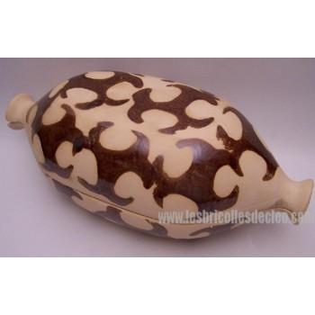 Clay Pot Ceramic Boeuf Cartier Beauce + Book