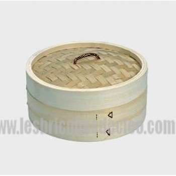 Bamboo Steamer Basket Cooker 10 inches 2 Tiers