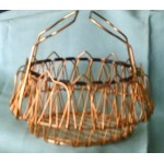 Vintage Wire Basket Filligree Gold Transformable