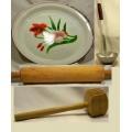Collection articles cuisine anciens louche rouleau