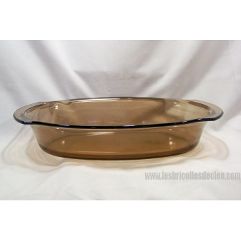 Oval amber glass roasting pan Marinex