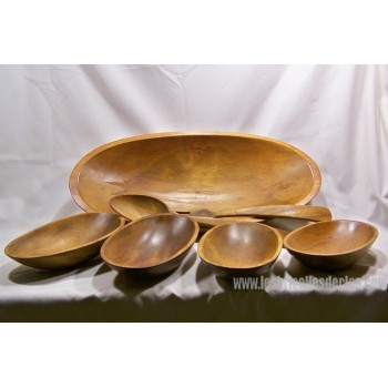 Oval Salad Bowl Set Baribocraft Hard Wood