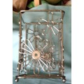 Ustensil Bottle Caddy Holder Filigree Stainless Steel