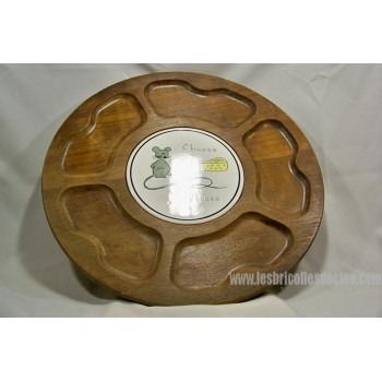 Wooden Turntable Cheese Condiments Snacks