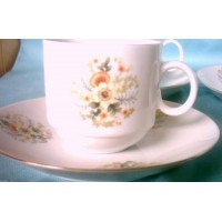 Espresso Cups Saucers Demi-tasse Flower Expresso