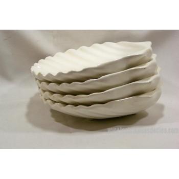 White Ceramic Scallop Shell Dish