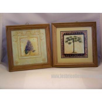 Cadres de bois arbre fleur 2
