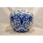 Blue White Porcelain Ginger Jar No Lid