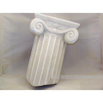 Column-shaped ceramic Console Wall bracket Applique