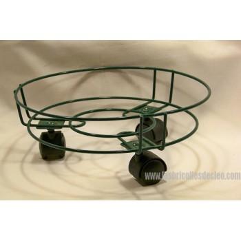 Porte-plante Chariot métal vert 8 pouces