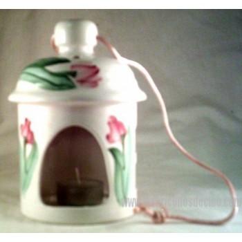 Hanging Lantern White Ceramic Lamp