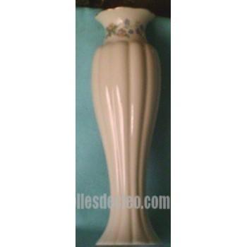 White Ceramic Bud Vase Lenox Flower Gold Rim