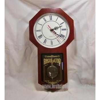 Mahogany wood wall clock